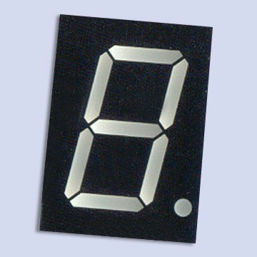 1 Digit White Display