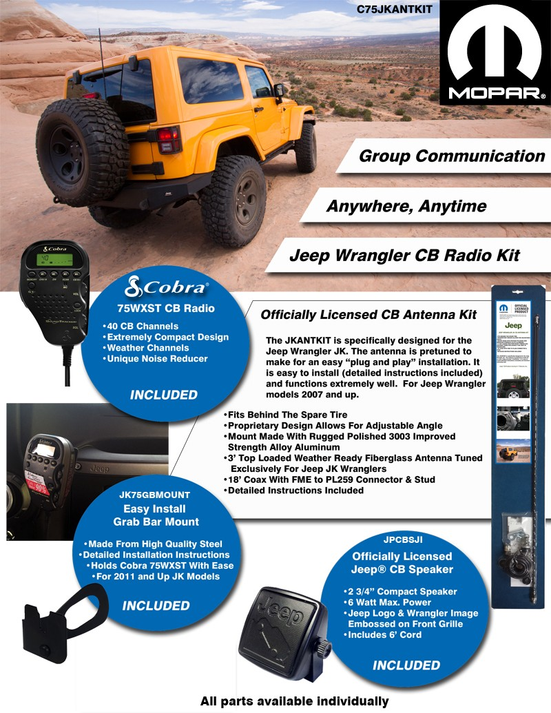 jeep_fullkit mopar� jeep� licensed complete cb radio & antenna kit new products Boss 612Ua Wiring Diagram at alyssarenee.co