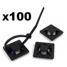 """PTMPAD 1"""" Mounting Pad For Cable Ties 100 PCS."""