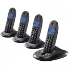 Motorola C1014LX DECT 6.0 Black 4-Handset Digital Cordless Home Phone with Answering Machine