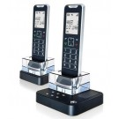Motorola IT6-2 DECT 6.0 Black Digital Cordless Phone with 2-Handsets and Answering Machine