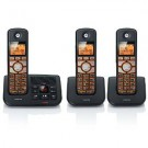 Motorola K703B DECT 6.0 Black Cordless Phone with 3-Handsets, Caller ID and Answering System