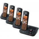Motorola K704B DECT 6.0 Black Cordless Phone with 4-Handsets, Caller ID and Answering System