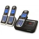 Motorola P1003 DECT 6.0 Cordless Phone with 3-Handsets and Digital Answering System